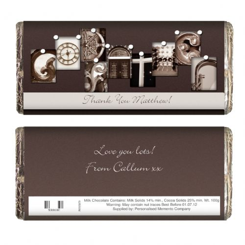 Personalised Affection Art Godfather Chocolate Bar